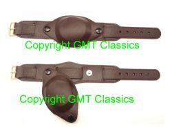 Brown Leather Military Strap With Cover