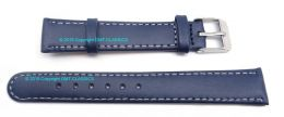Blue Leather Strap With Stitching