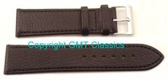 Black Calf Leather Strap Buffalo Finish With Options