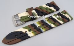 Black and Green Camouflage Style Watch Strap